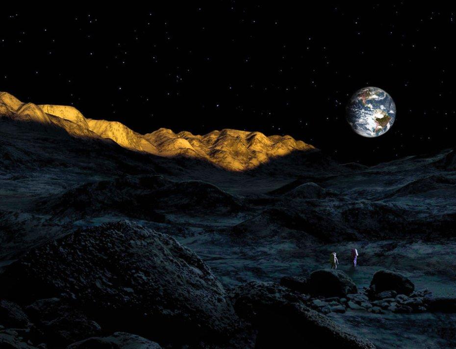 Οι κορυφές του αιώνιου φωτός της σελήνης