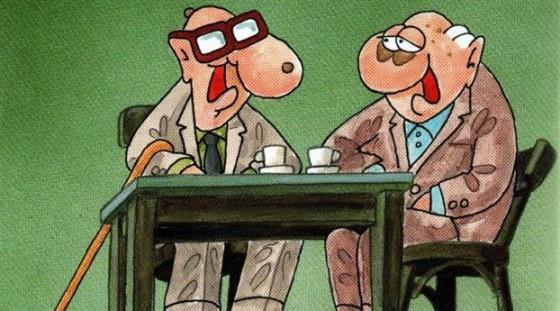 Δύο γέροι στον καφενέ