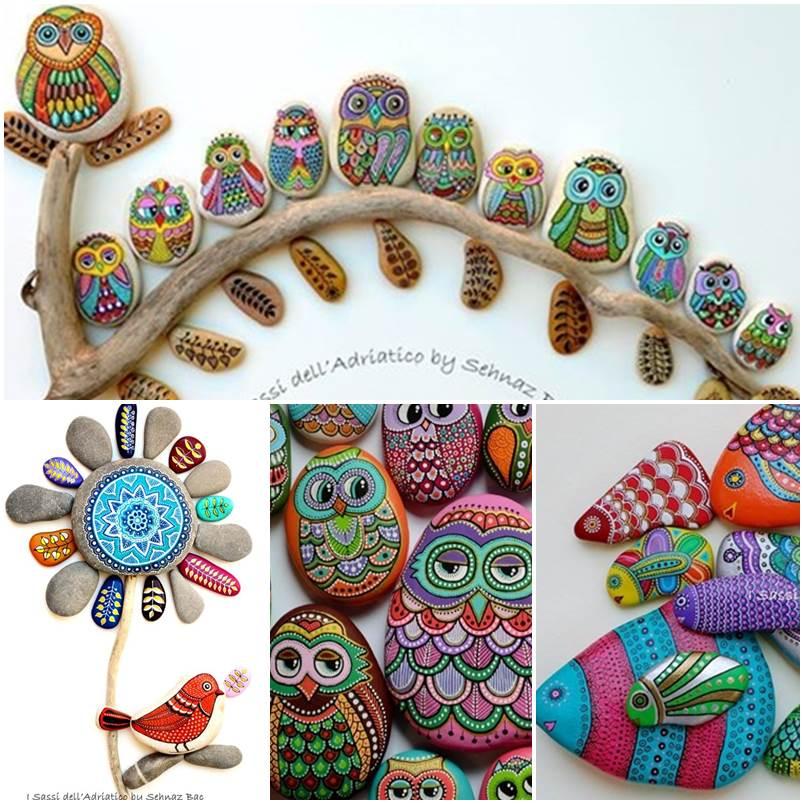 DIY ζωγραφισμένες πέτρες και βότσαλα1