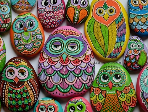 DIY ζωγραφισμένες πέτρες και βότσαλα5