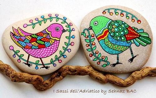 DIY ζωγραφισμένες πέτρες και βότσαλα7