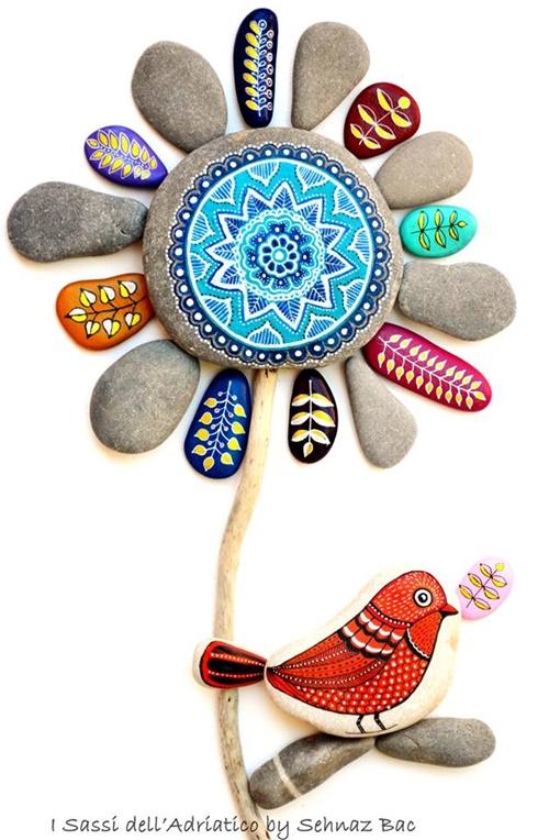 DIY ζωγραφισμένες πέτρες και βότσαλα8