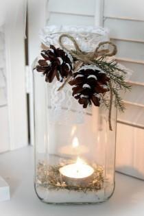 Γιάλυνο βάζο με κερί