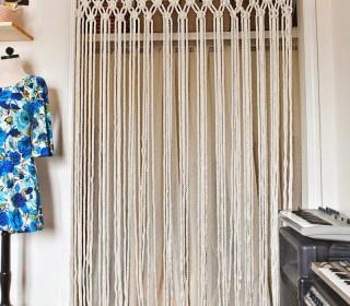 DIY: Φτιάξτε μόνοι σας μια μακραμέ κουρτίνα