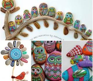 Δημιουργικές ιδέες - DIY ζωγραφισμένες πέτρες και βότσαλα